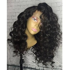 4A Non remy Curly Human Hair Lace Front Wigs (219150410)