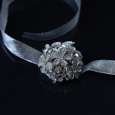 Lace/Rhinestone Wrist Corsage (Sold in a single piece) -