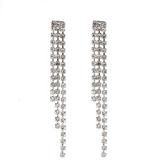 Fashional Alloy Rhinestones With Rhinestone Women's Fashion Earrings