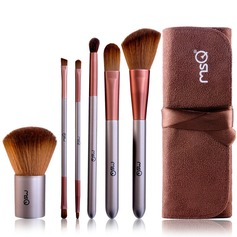 Fibres artificielles Basique 6Pcs Café Pouch Maquillage