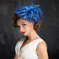 Dames Klassiek Feather/Netto garen/Tule/Linnen met Feather Fascinators