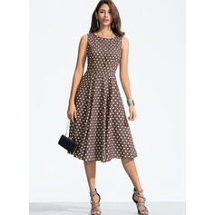 Polyester With Print Midi Dress (199173870)