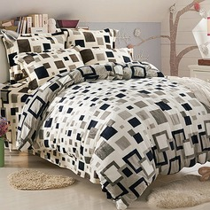 Modern/Contemporary Flannel Comforters (4pcs :1 Duvet Cover 1 Flat Sheet 2 Shams) (203084259)