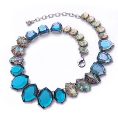 Gorgeous Alloy Gem Women's Fashion Necklace (Sold in a single piece)