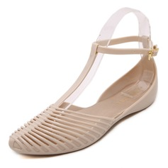Women's PVC Flats Closed Toe shoes