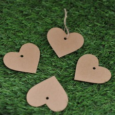 Heart Shaped Kraft Paper Tags