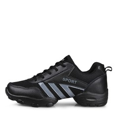 Men's Real Leather Fabric Sneakers Sneakers With Lace-up Dance Shoes