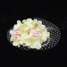 Beautiful Imitation Pearls/Net Yarn/Satin Fascinators