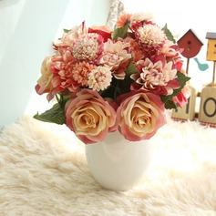 Elegant Free-Form Fabric Bridesmaid Bouquets/Decorations -