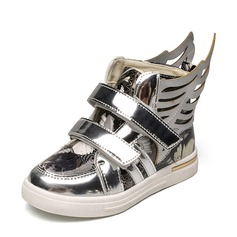 Girl's Closed Toe Leatherette Flat Heel Flats Sneakers & Athletic With Velcro Animal Print