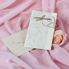 Heart Stil Side Fold Invitation Cards