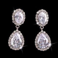 Beautiful Alloy/Silver Plated With Crystal Ladies' Earrings