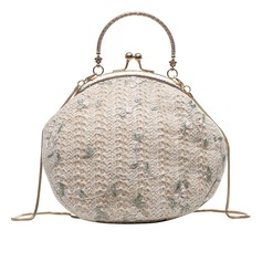 Elegant Straw Clutches/Top Handle