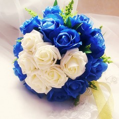 Eye-catching Free-Form Satin/Artificial Silk Bridal Bouquets - (123116158)