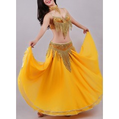 Women's Dancewear Polyester Chiffon Belly Dance Outfits (115175834)