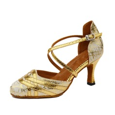 Women's Leatherette Heels Ballroom With Buckle Dance Shoes