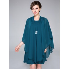 3/4-Length Sleeve Chiffon Special Occasion Wrap (013047451)