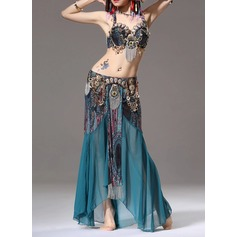 Women's Dancewear Cotton Polyester Chiffon Belly Dance Outfits (115086461)