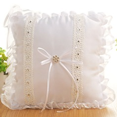 Beautiful Ring Pillow in Cloth With Bow/Lace