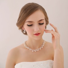 Romantic Alloy/Zircon/Imitation Pearls Ladies' Jewelry Sets (011113972)