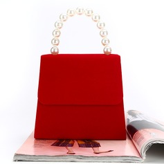 Personalized Style Velvet Clutches/Top Handle Bags