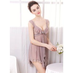 Chinlon Feminine Sleepwear Sets