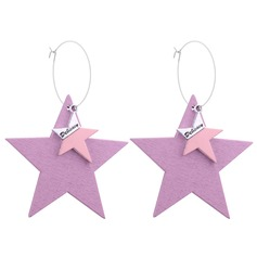Nice Alloy Wood Women's Fashion Earrings (Set of 2)