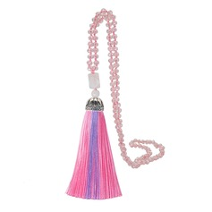 Lovely Crystal Silk With Tassels Women's Fashion Necklace