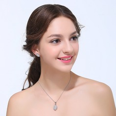 Romantic Zircon With Cubic Zirconia Ladies' Jewelry Sets