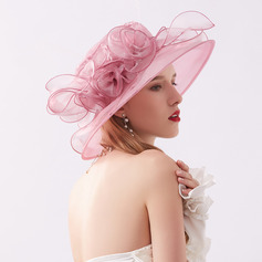 Ladies' Classic/Elegant Net Yarn With Flower Beach/Sun Hats/Kentucky Derby Hats/Tea Party Hats