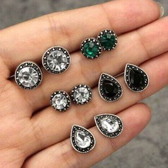 Stylish Alloy Rhinestones With Rhinestone Women's Fashion Earrings (Set of 5)