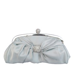 Shining Silk/Metal With Rhinestone Clutches