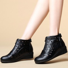 Women's Real Leather Heels Modern Dance Shoes