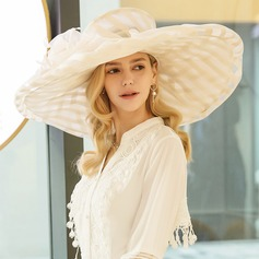 Organza With Feather Floppy Hats/Kentucky Derby Hats (196124765)