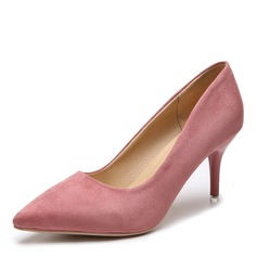 Women's Suede Stiletto Heel Pumps shoes (085216254)