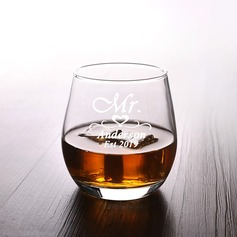Groom Gifts - Personalized Modern Elegant Glass Glassware and Barware