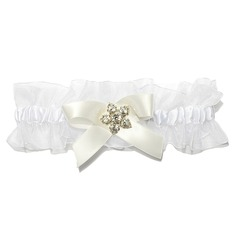 Fabulous Satin Organza With Rhinestone Wedding Garters