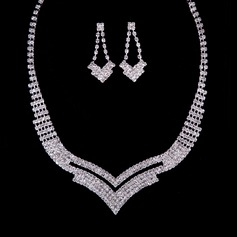 Shining Alloy/Rhinestones Jewelry Sets