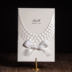Personalized Classic Style Wrap & Pocket Invitation Cards With Ribbons  (114080818)
