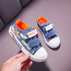 Unisex Round Toe Closed Toe Canvas Flat Heel Flats Sneakers & Athletic With Velcro
