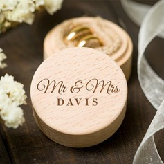 """Mr & Mrs.""/Personlig Wood Ring Boks"