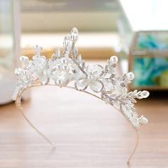 Alloy Tiaras With Venetian Pearl/Czech Stones (Sold in single piece)