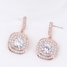 Shining Zircon Copper With Zircon Women's Fashion Earrings