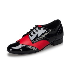 Men's Leatherette Heels Pumps Latin Ballroom Swing Practice Dance Shoes