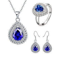 Shining Copper/Zircon/Gold Plated Ladies' Jewelry Sets