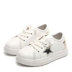 Unisex Closed Toe Leatherette Flat Heel Flats Sneakers & Athletic With Lace-up