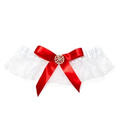 Satin With Rhinestone Wedding Garters