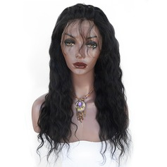 4A Non remy Water Wave Human Hair Lace Front Wigs