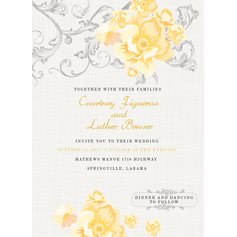 Vintage Rose Wedding Cards