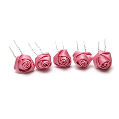 Lovely Artificial Silk Hairpins (Set of 5)